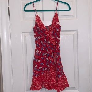 NWT red summer dress from Express. Size XS
